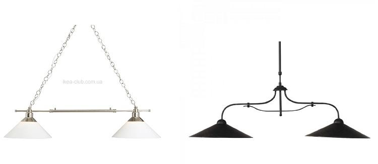двойной подвесной светильник
