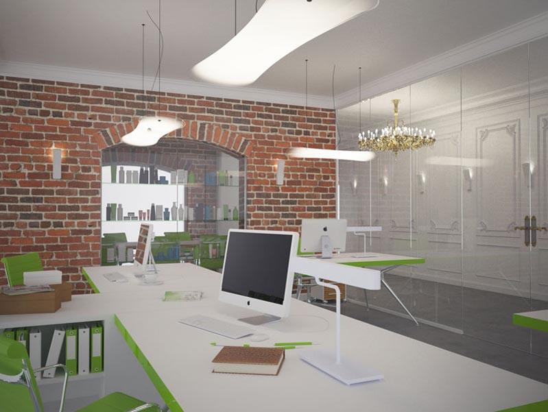 Подвесные светодиодные светильники в офисе Орифлейм