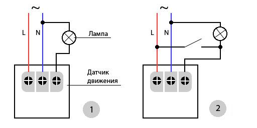 Подключение датчика движения