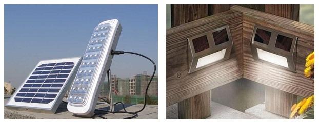 автономные светодиодные светильники со встроенными или внешними солнечныи батареями