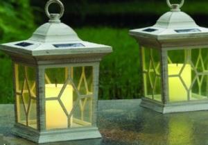 переносной садовый фонарь на солнечных батареях
